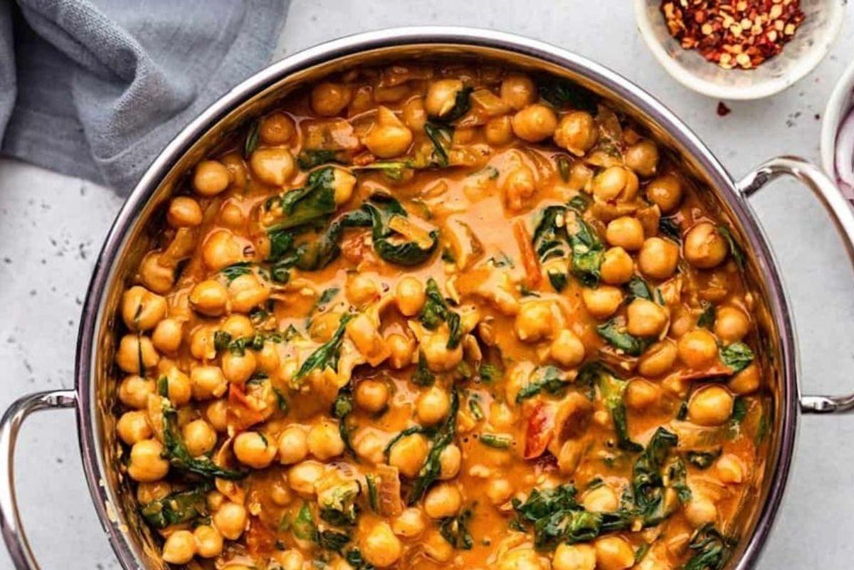 curry di ceci senza latte di cocco
