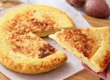 pizza di patate in padella senza uova