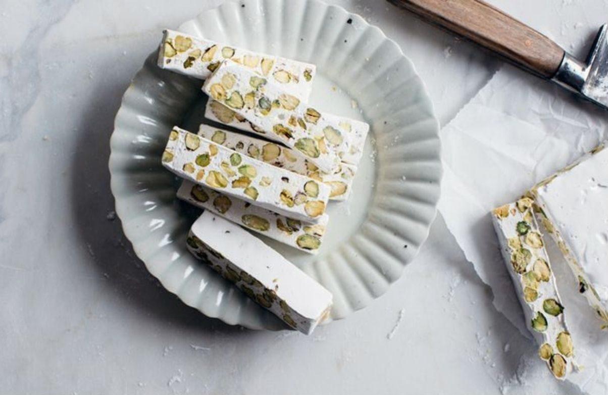 Torrone mandorle e pistacchi vegan