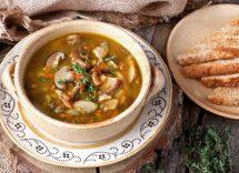 zuppa cinese con melone invernale e funghi