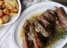 Abbacchio al forno con patate alla romana