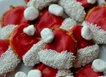 Biscotti cappello di Babbo Natale