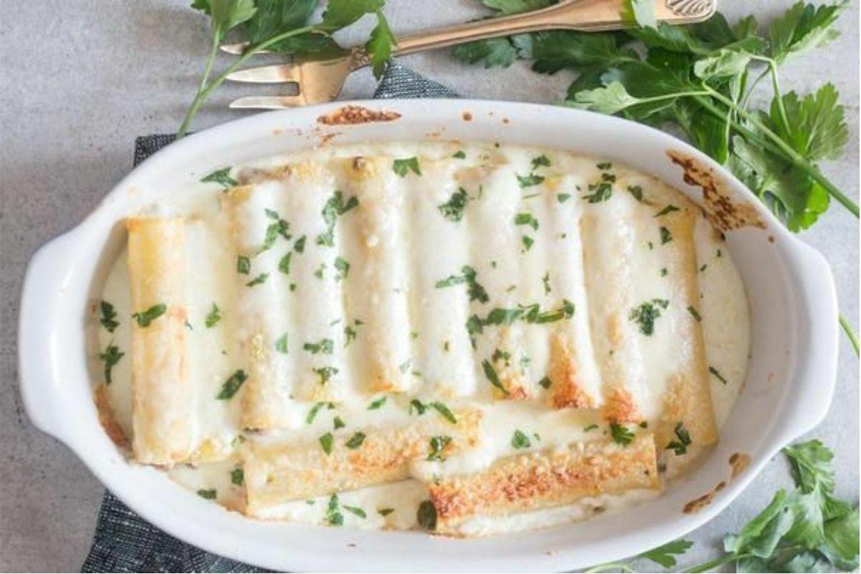 cannelloni al ragù bianco con besciamella