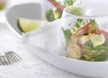 cocktail di gamberetti e asparagi
