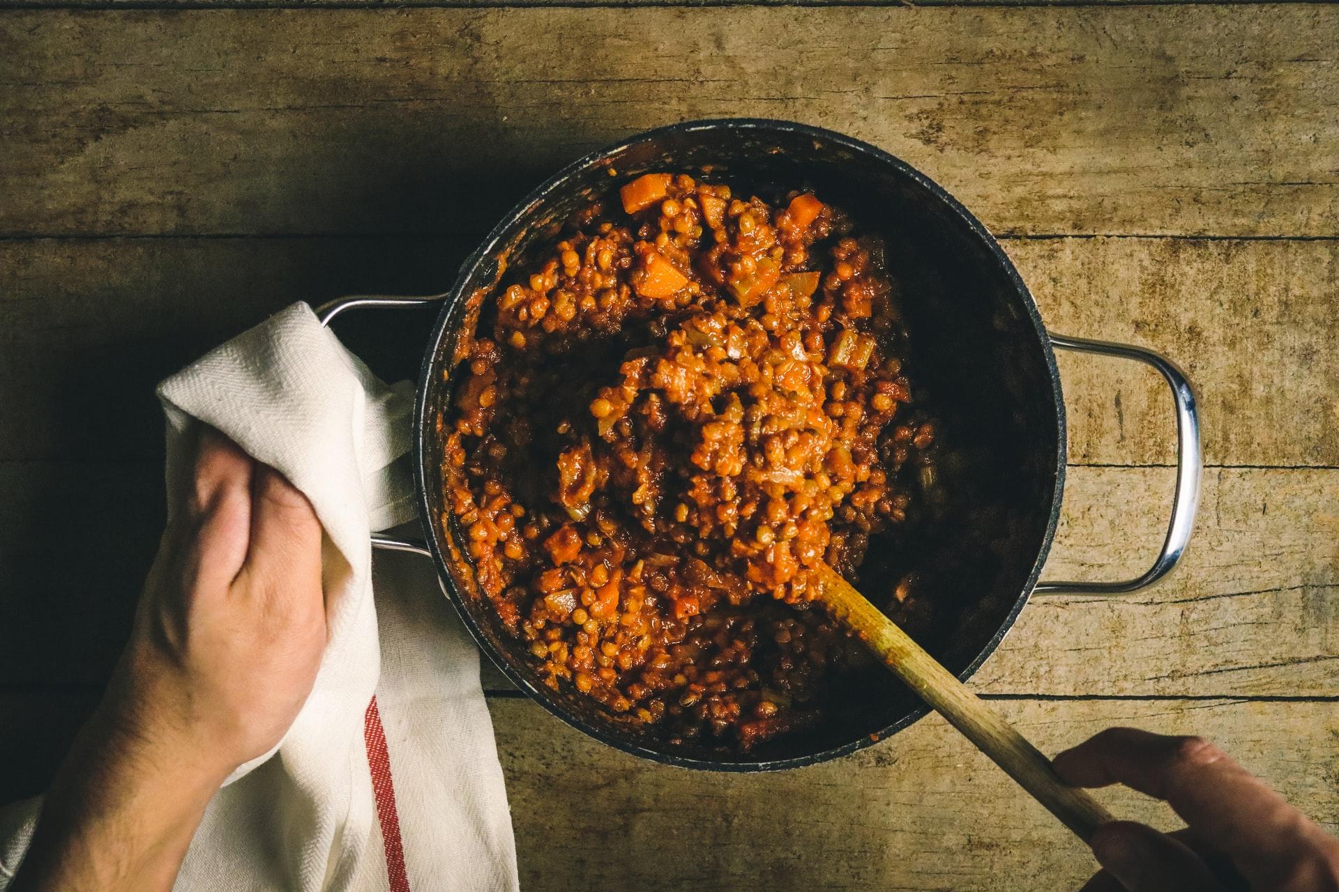 cornucopia con lenticchie