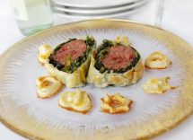Cotechino in crosta con spinaci