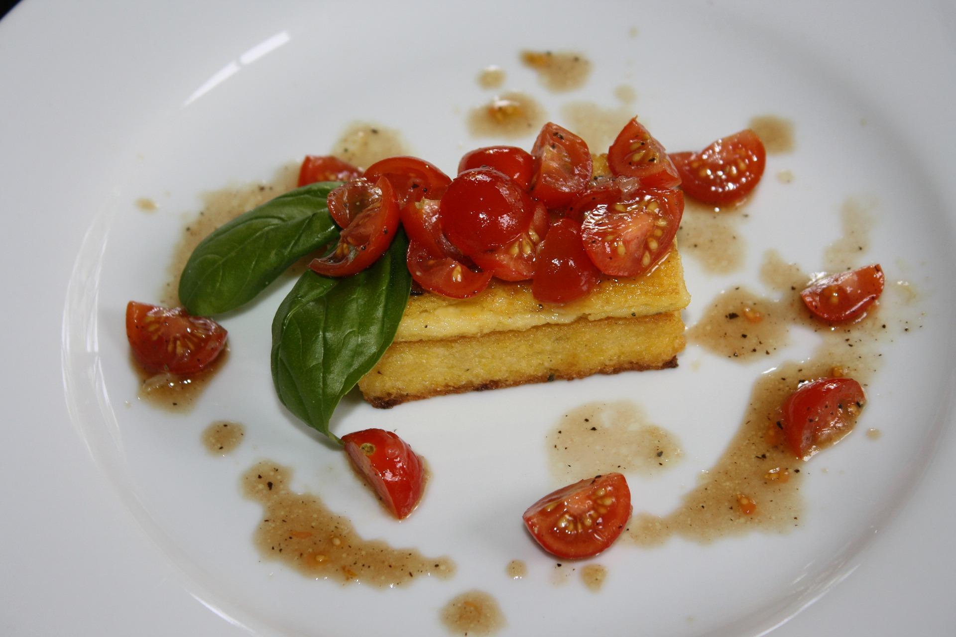 Crostini di polenta grigliata