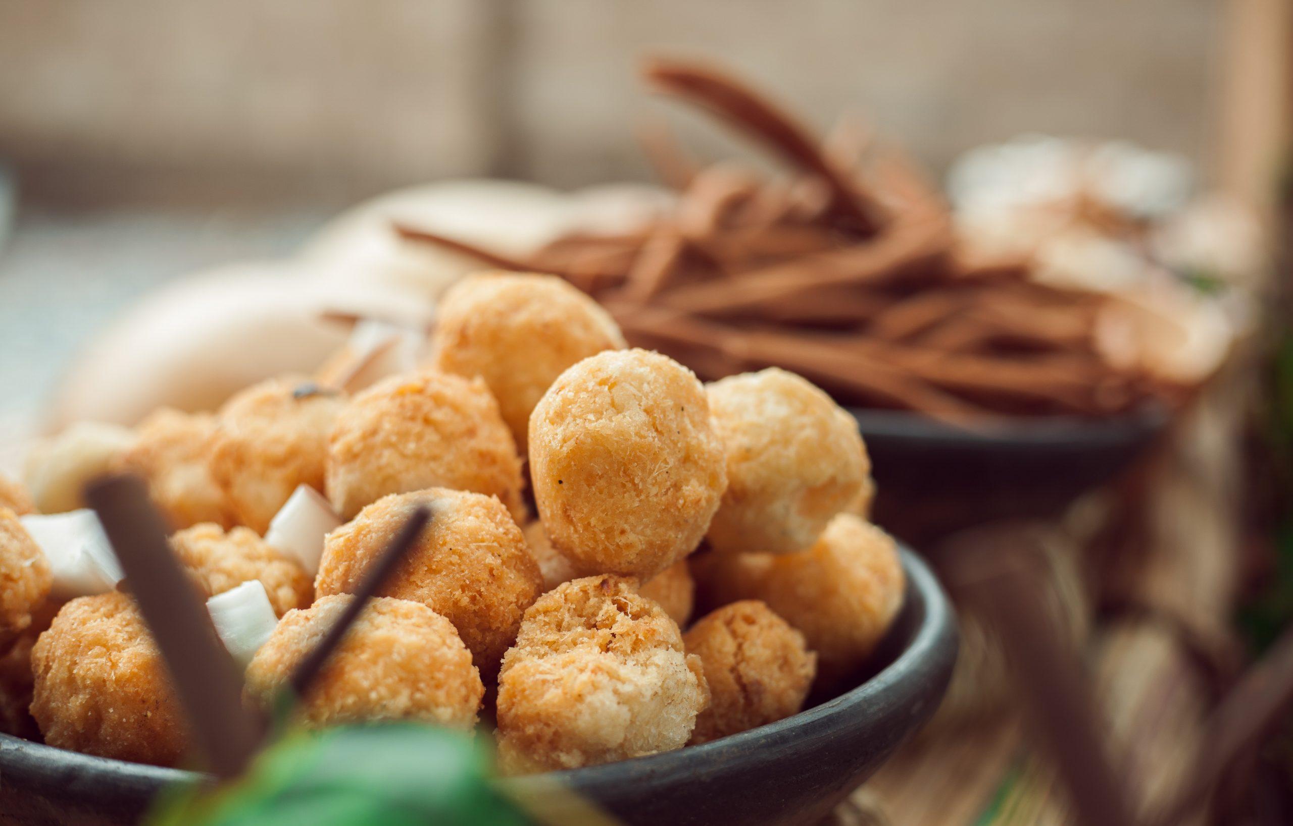 frittelle con peperoni cruschi