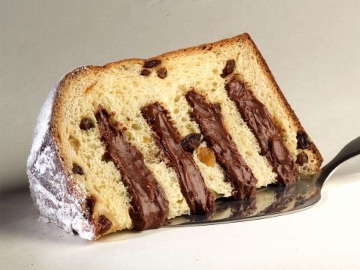 pandoro farcito con crema pasticcera al cioccolato