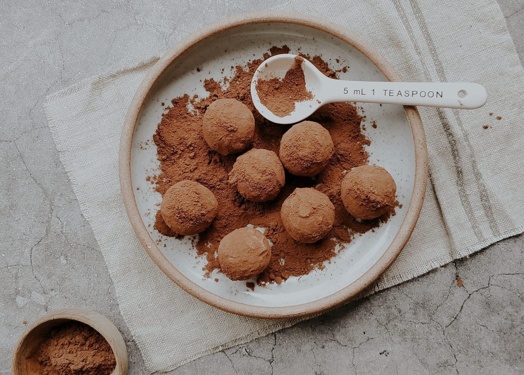 tartufi di pandoro panna e nutella