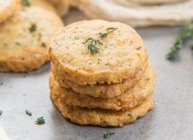 cookies salati radicchio e formaggio