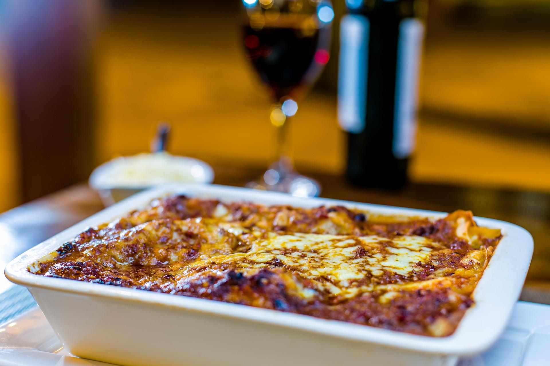 lasagna radicchio castagne e speck