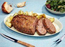 polpettone di vitello al forno con patate