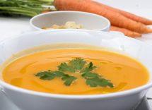 zuppa detox carote e zenzero
