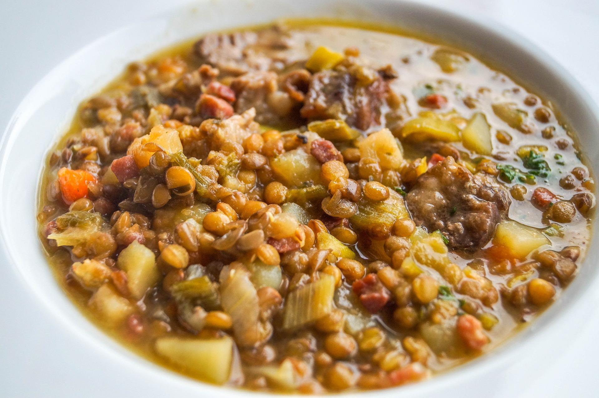 zuppa di lenticchie con feta