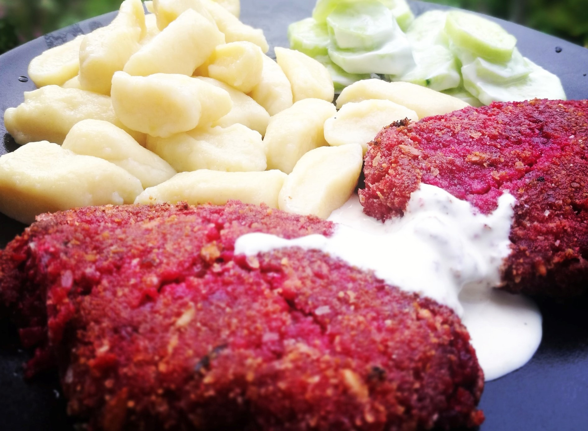 burger salmone e barbabietola