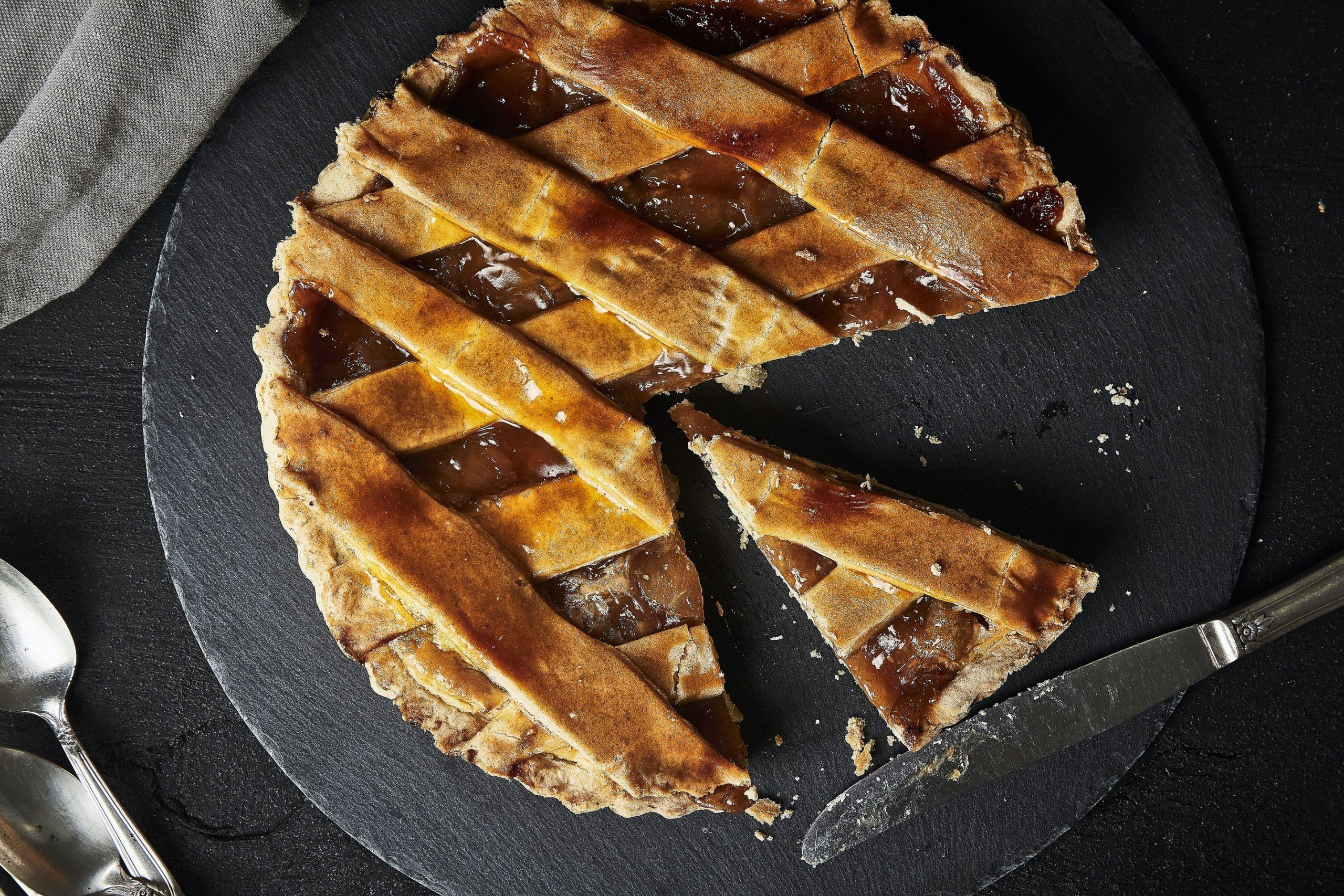 crostata al burro di arachidi e cioccolato