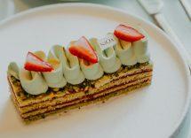 millefoglie al pistacchio e cioccolato bianco