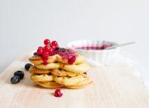 pancake a forma di cuore senza stampo