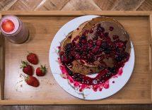 pancake al cacao senza uova