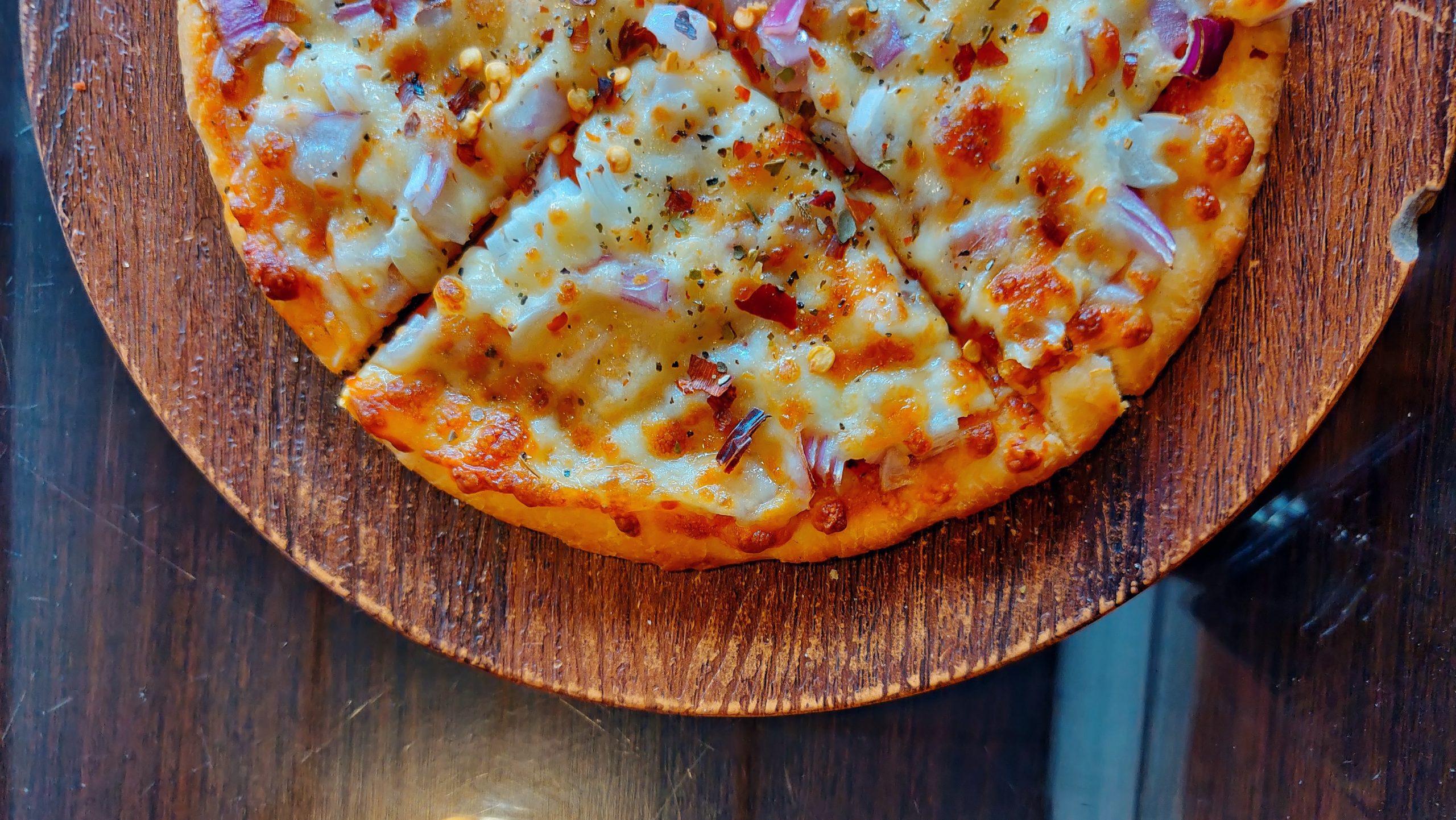 pizza di polenta in padella