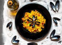 riso fagioli cozze e pancetta
