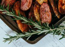 coscia di coniglio al forno con patate