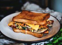 French toast salato vegetariano