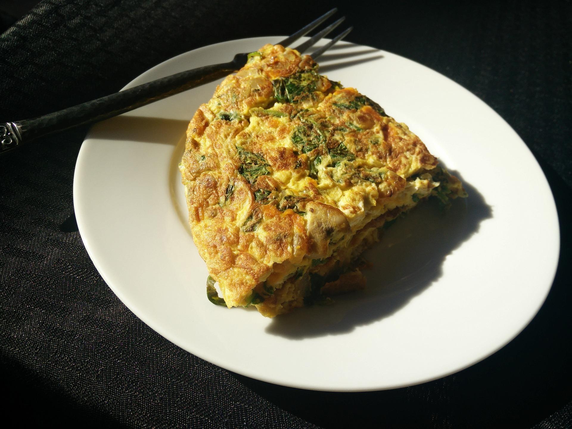frittata broccoli e funghi