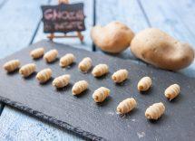 Gnocchetti con pesto di pistacchi e burrata