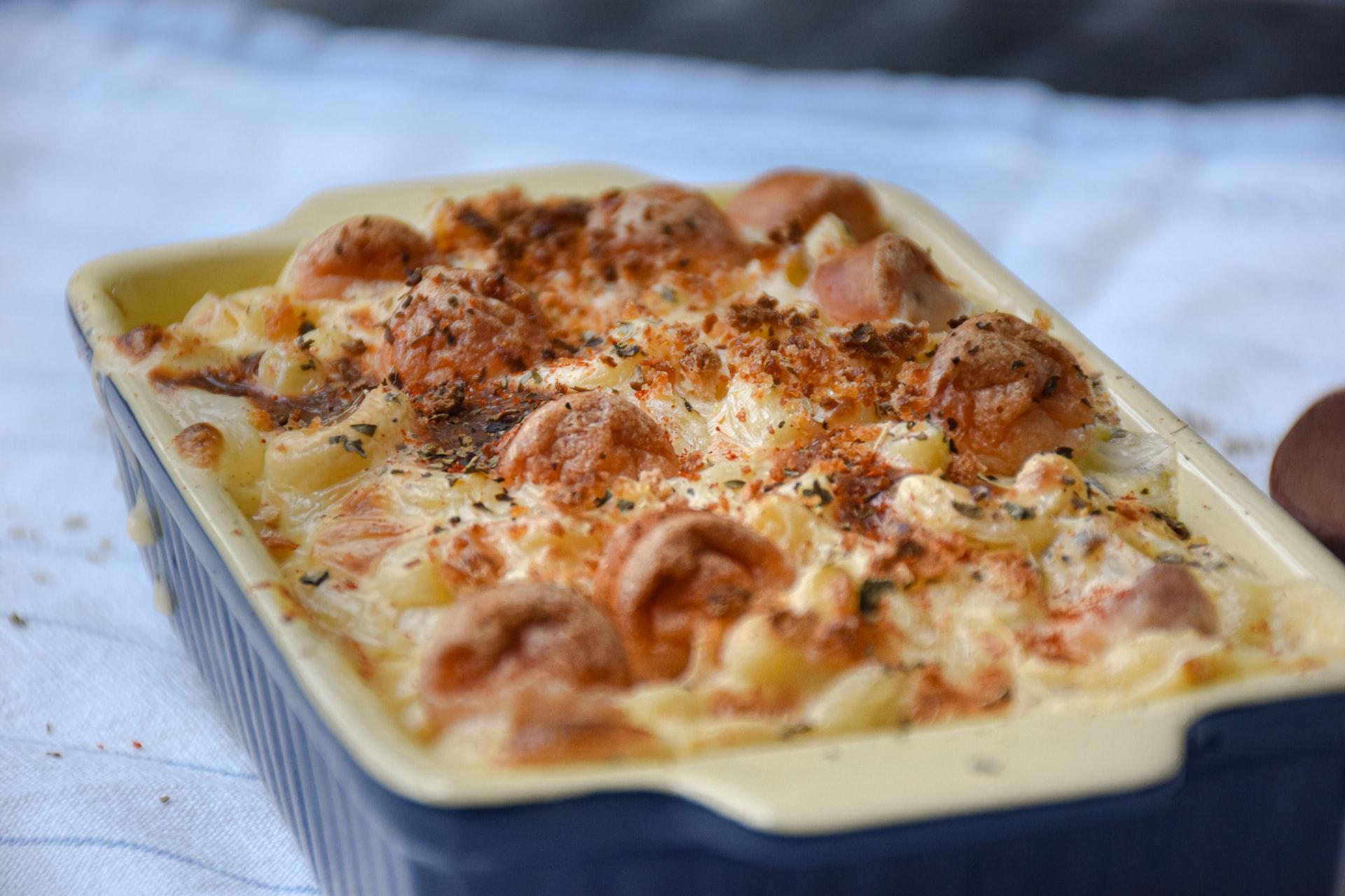 Lasagna al pistacchio con mortadella e provola