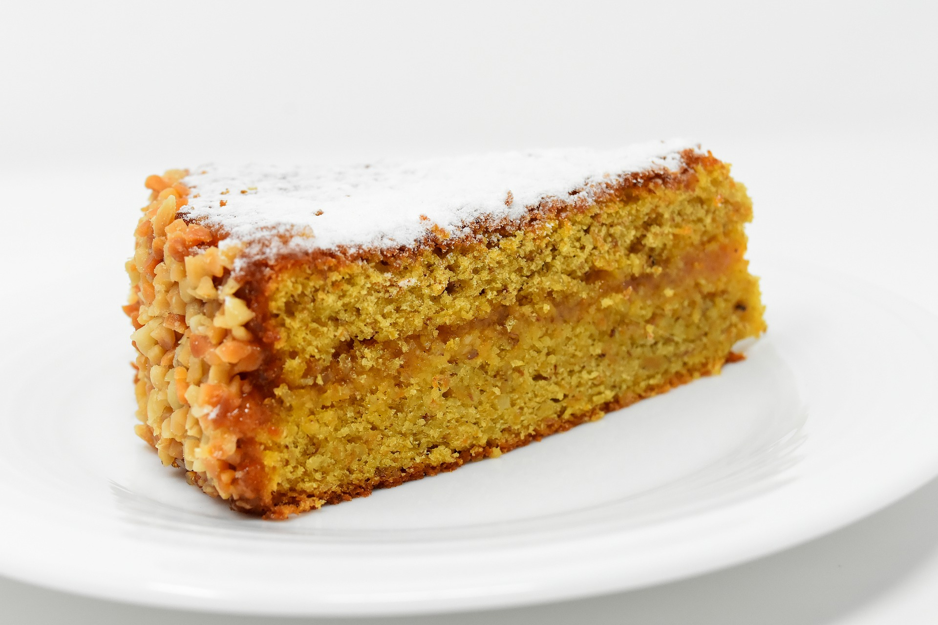 Torta carota e noci senza burro
