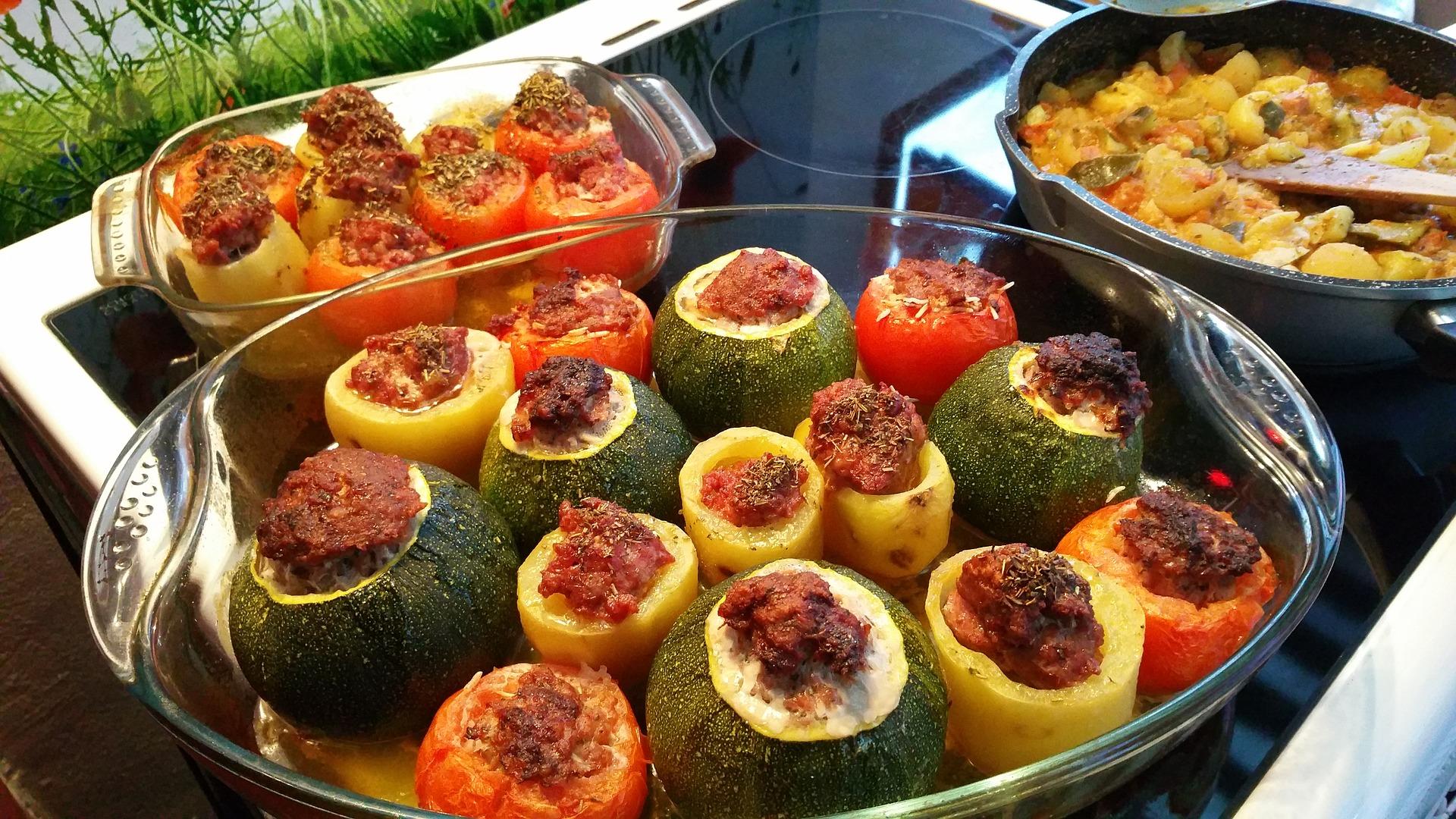 zucchine ripiene al forno con carne macinata