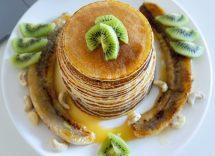 Pancake ai kiwi ricetta