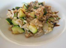 Ricetta risotto salmone e zucchine