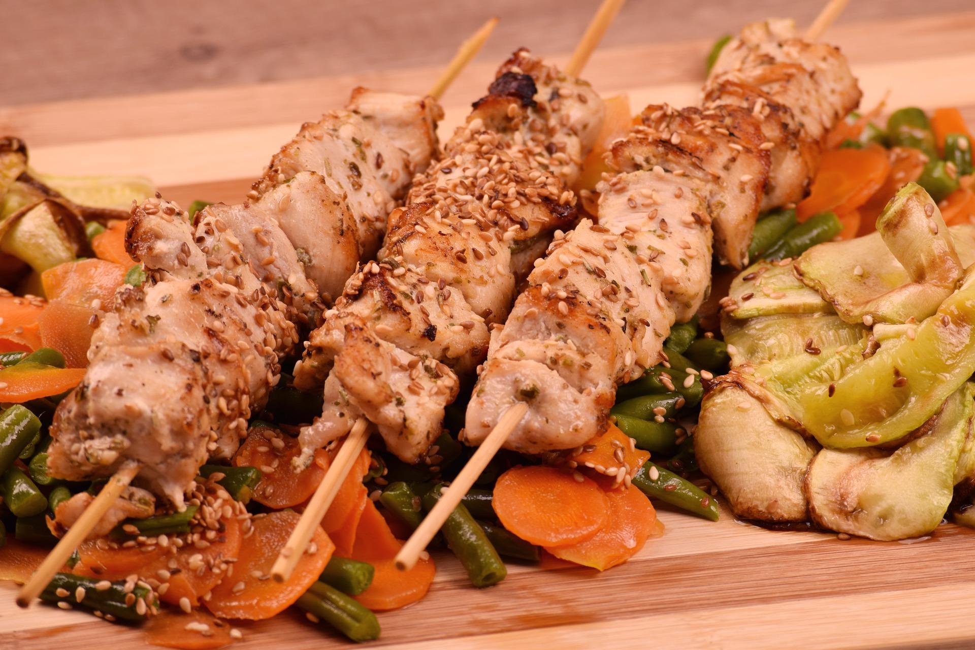 ricetta spiedini di pollo alla griglia