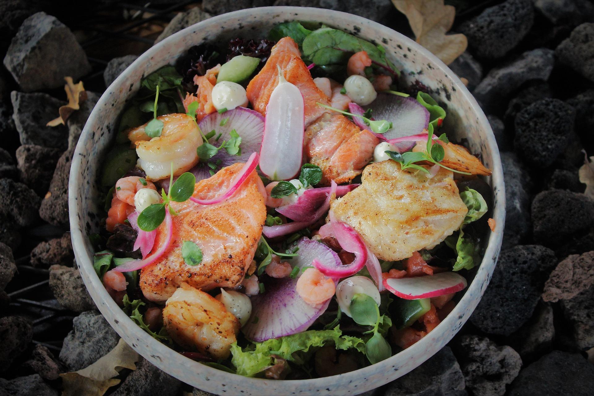 insalata piccante di pesce