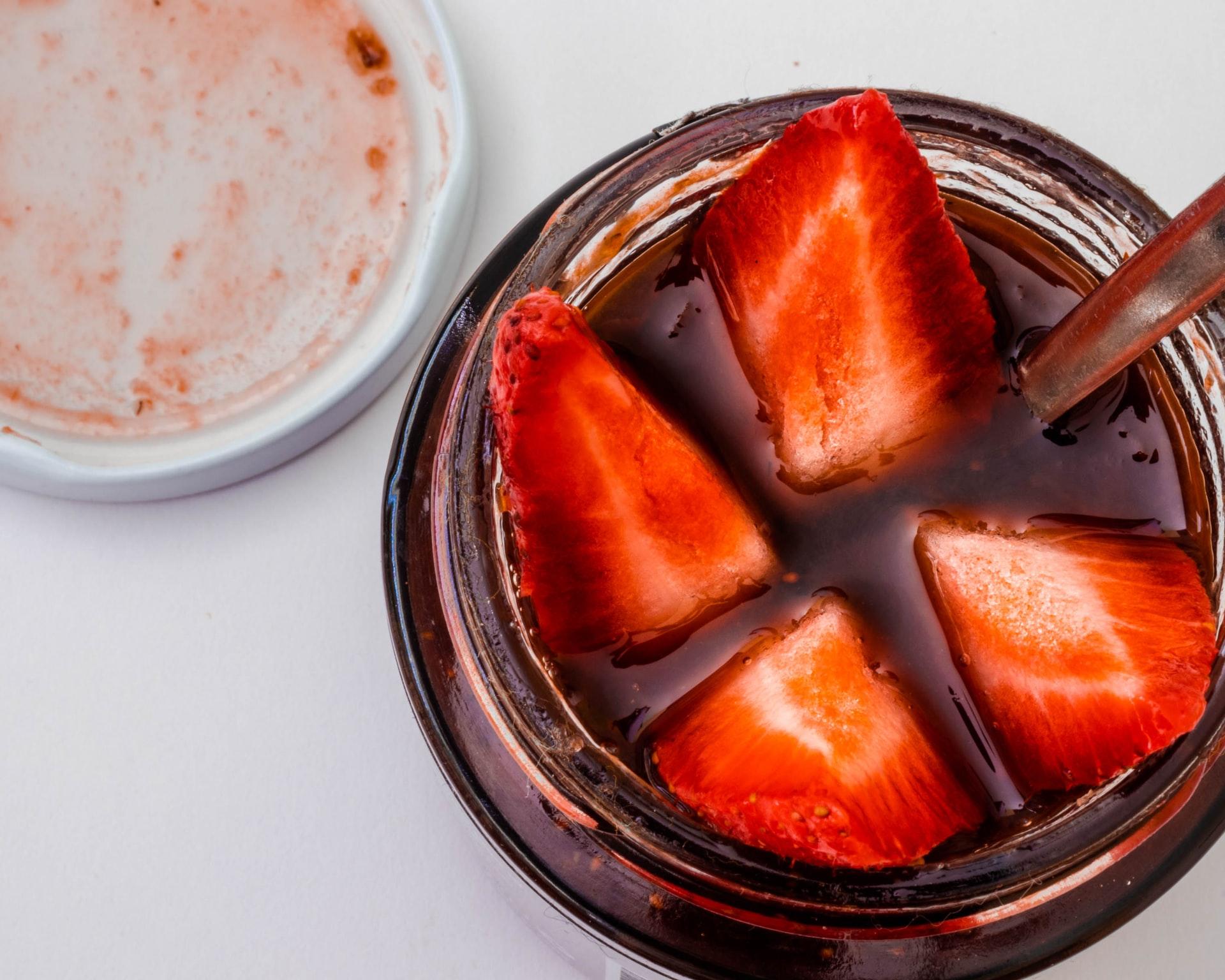 Budini di gelatina di fragole