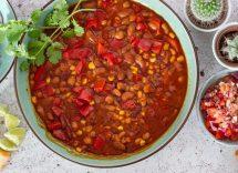 Chilli vegetariano ricetta