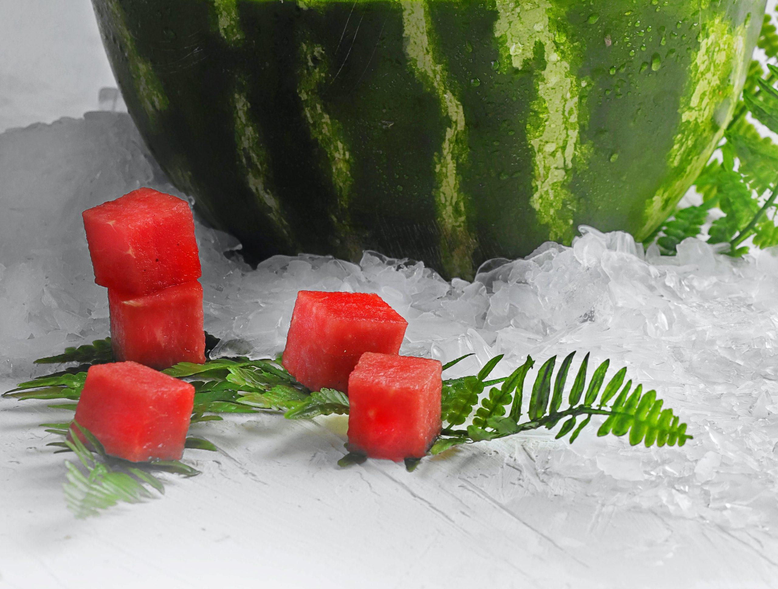 cubetti di ghiaccio anguria