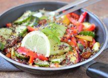 Insalata quinoa verdure estive ricetta