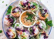 Involtini di carote e hummus