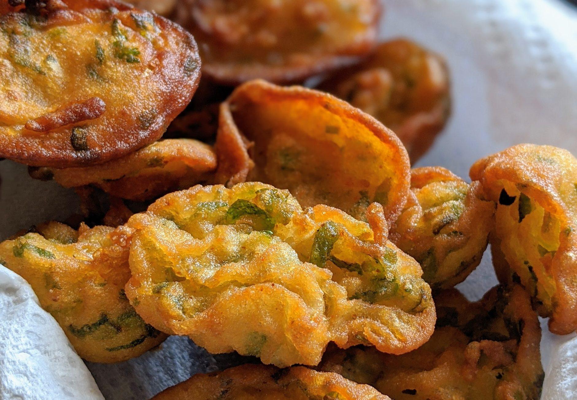 Mini frittate di chorizo, piselli e patate