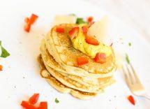 Pancake alle erbe con formaggio di capra