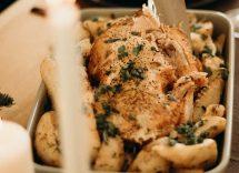 Pollo asado con harissa