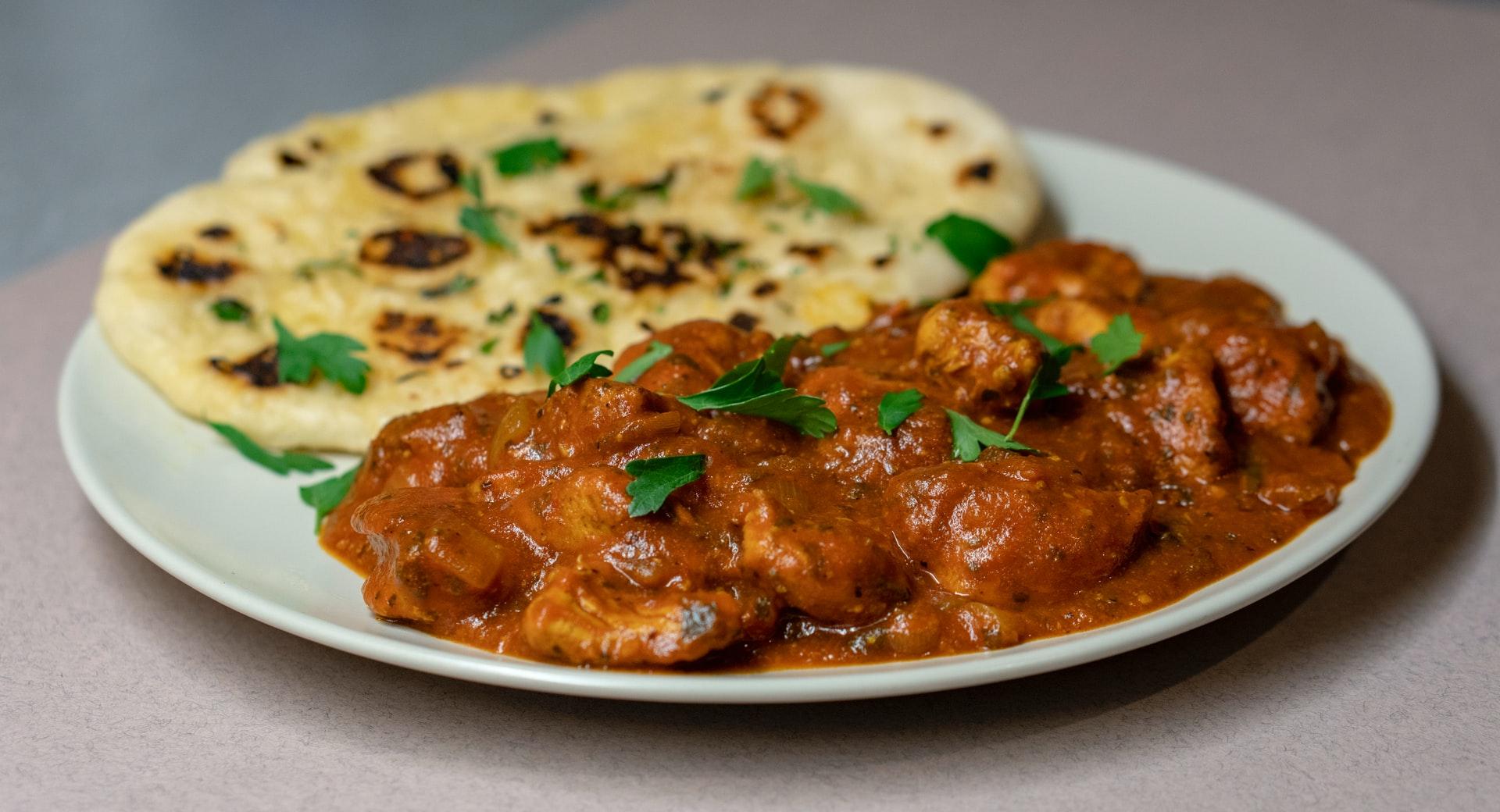 Pollo madras al curry