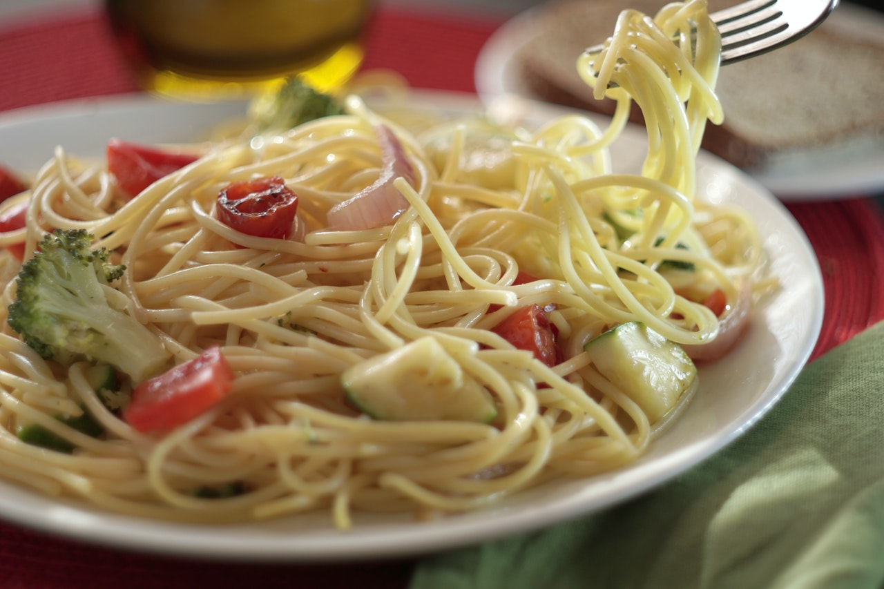 spaghetti primavera ricetta