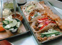 Tacos ai frutti di mare misti
