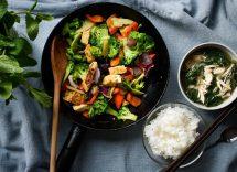 tofu peperoncino e verdure