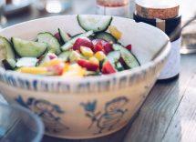 Verdure arrostite con noci e feta